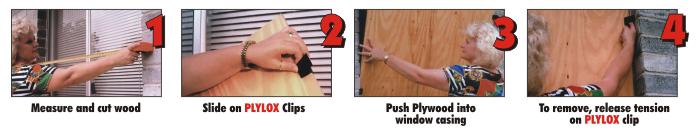 Plylox window clips