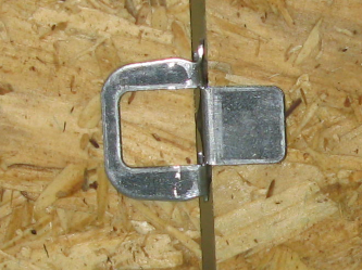 Plywood hurricane clips